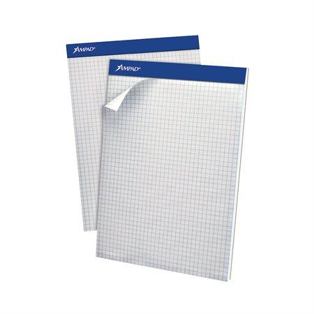 Bloc de papier blanc perforé