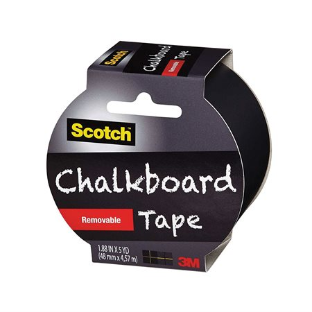 1905RCBEFS TAPE CHALKBRD REMOVABLE 48MMX4.57M BLK