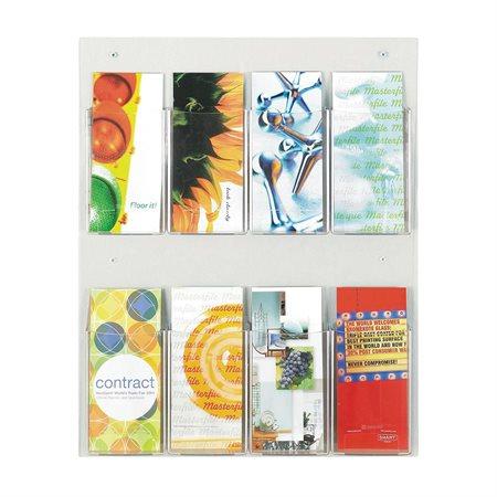 Présentoir mural Clear2c™ pour brochures