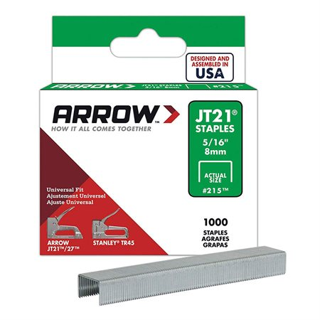 "5 / 16"" STAPLES FOR JT21 / JT27 TACKER 1M / BX"