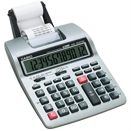 Calculatrice à imprimante HR100TM