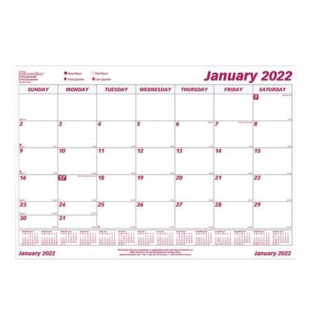 Recharge pour calendrier de bureau mensuel (2020)