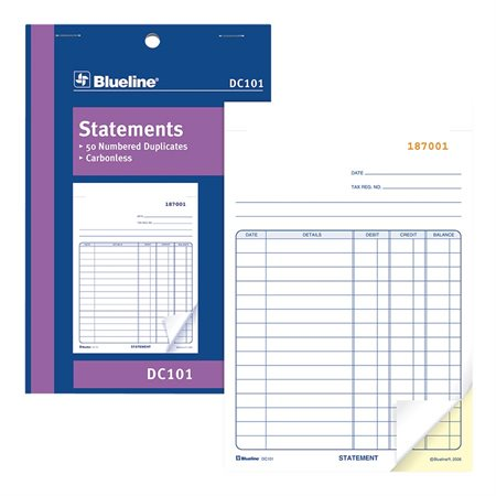 Carbonless Statement Book