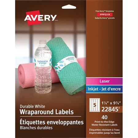 Étiquettes enveloppantes Durables