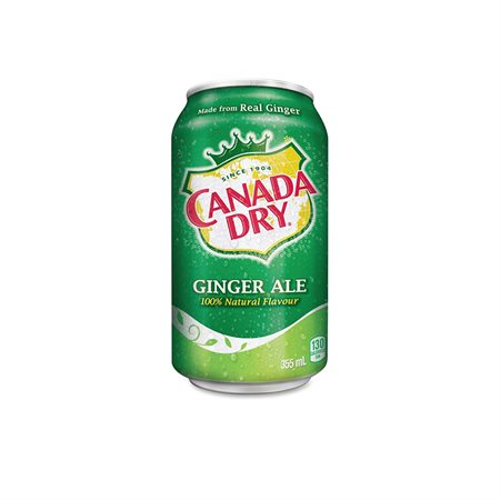 BREUVAGES GINGER ALE 355ml. @12