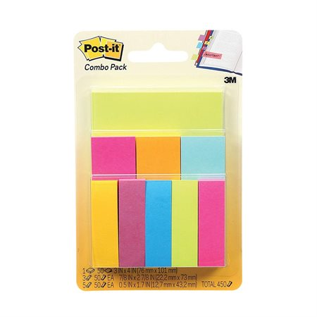 Ensemble de feuillets et signets Post-it®