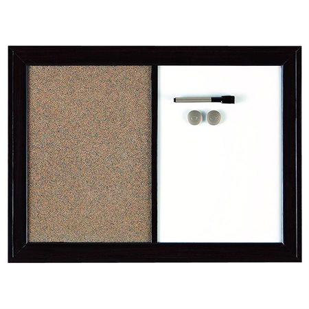 Tableau blanc et tableau d'affichage combinés