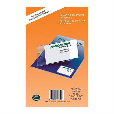 BUS.CARD POCKET 2 3 / 8 X 3 3 / 4 20 / PK