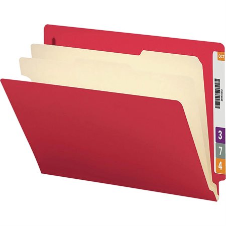 2 Dividers Classification Folder red