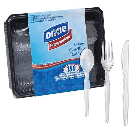 Coutellerie en cristal de polystyrène Dixie®