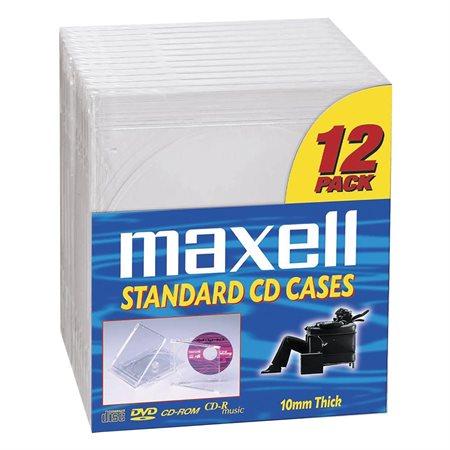 Boîtiers standards pour CD / DVD