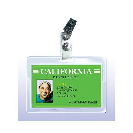 Pochettes de plastification avec pince pour carte d'identification