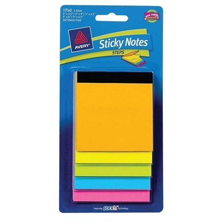 """Blocs de feuillets autoadhésifs """"Sticky"""""""