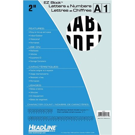Adhesive Letters and Numbers