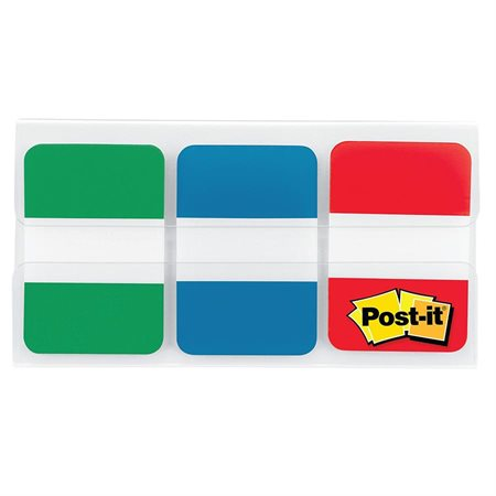 Post-it® Durable Index Tabs red, blue, green