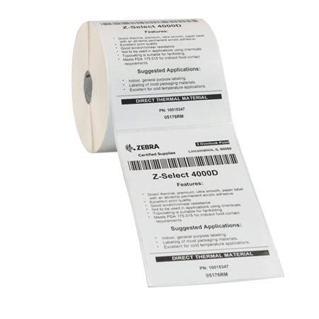 Étiquettes thermiques Z-Select® 4000D