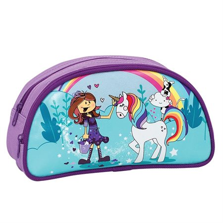 Unicorn Half Moon Pencil Case