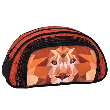 Lion Half Moon Pencil Case