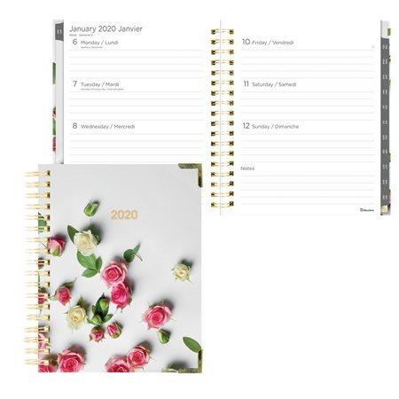 Agenda hebdomadaire / mensuel romantique (2020)
