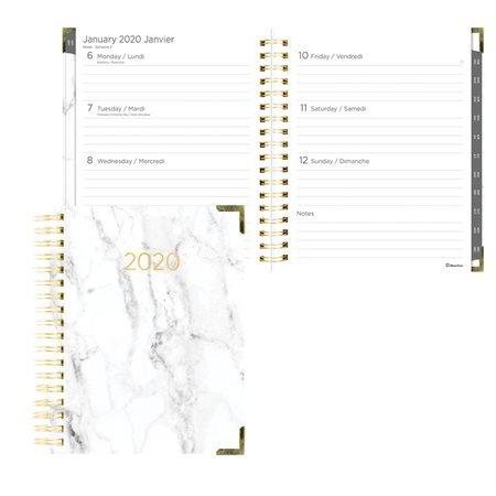 Agenda hebdomadaire / mensuel Marbre (2020)