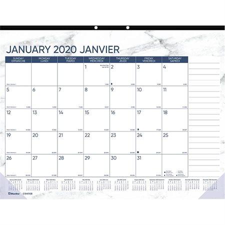 Calendrier sous-main mensuel (2020)