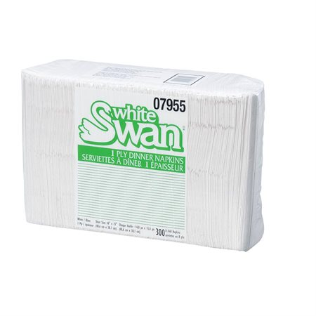 Serviettes de table White Swan®