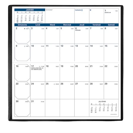 Agenda de poche mensuel Visoplan (2020)
