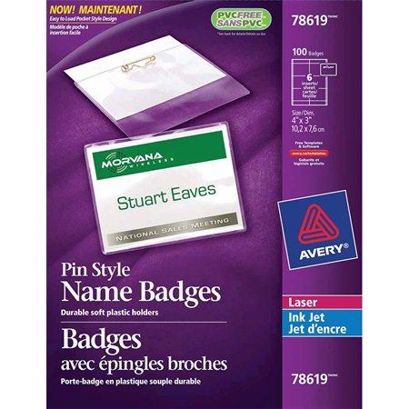 Badges avec épingle métal