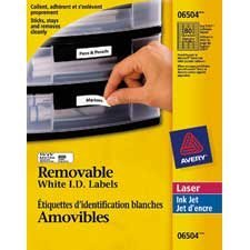 Removable I.D. labels