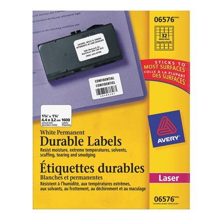 TrueBlock™ White Durable Labels
