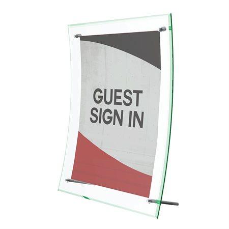 Superior Image Curved Sign Holder