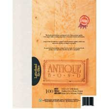 Antique Bond Paper Package of 100 aged