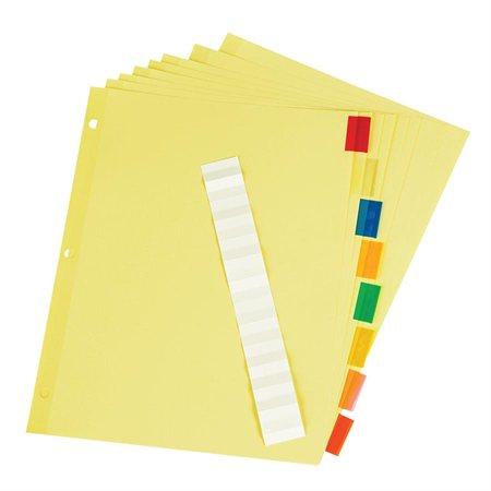 Intercalaires insérables Offix® Onglets en plastiques, couleurs variées 5 onglets