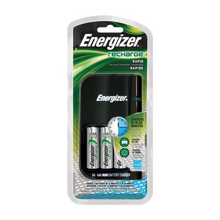 Chargeur rapide pour piles Recharge®
