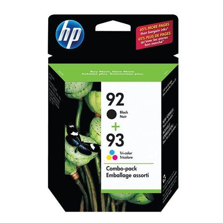 Paquet double de cartouches jet d'encre HP 92 / 93