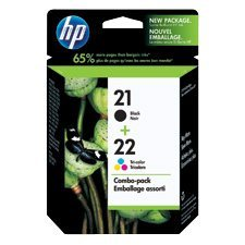 HP 21 / 22 Ink Jet Cartridges Twin Pack