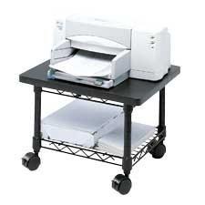 Under-desk printer / fax stand