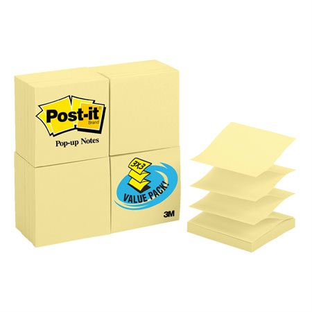 Bloc de feuillets éclair autoadhésifs format club Post-it®